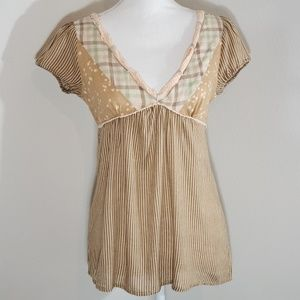 Flying Tomato Brown Striped Tunic